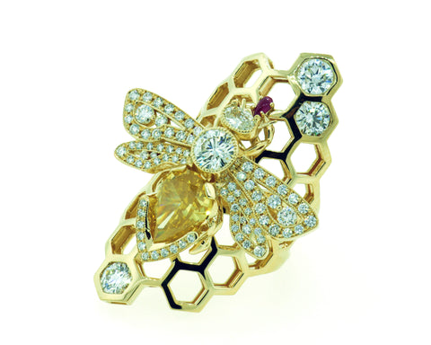 "Exclusive Custom ""Bee"" Ring by Teels Jewelry"