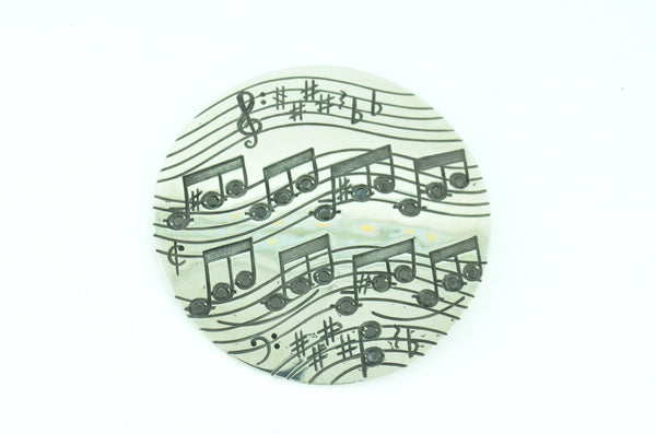 Custom Music Note Brooch by Teel's Jewelry