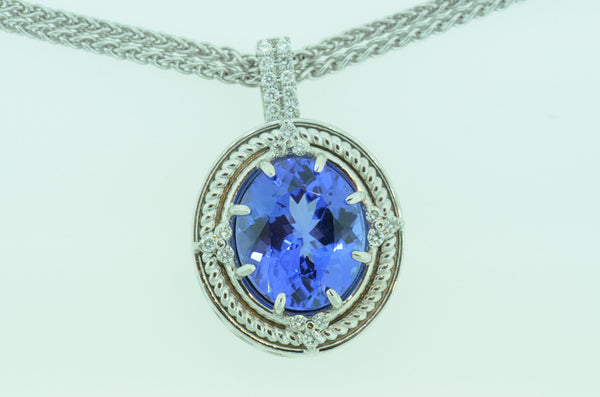 Dreamy Custom Tanzanite Pendant by Teel's Jewerly