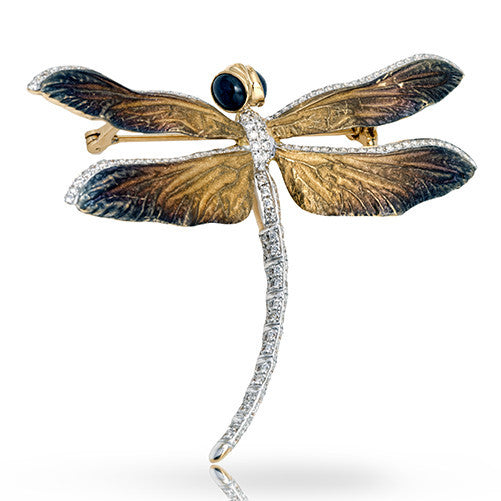 Extraordinary Nature Inspired Dragonfly Pendant from Simon G.