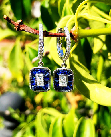 Sapphire and Diamond Earrings by Simon G