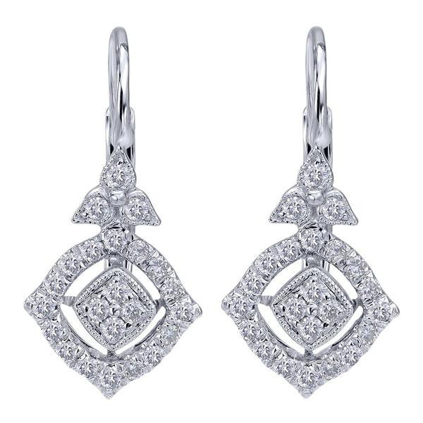 Beautiful Vintage Inspired Diamond Earrings by Gabriel & Co