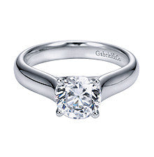 The Classic Solitaire Engagement Ring in 14k White Gold by Gabriel & Co