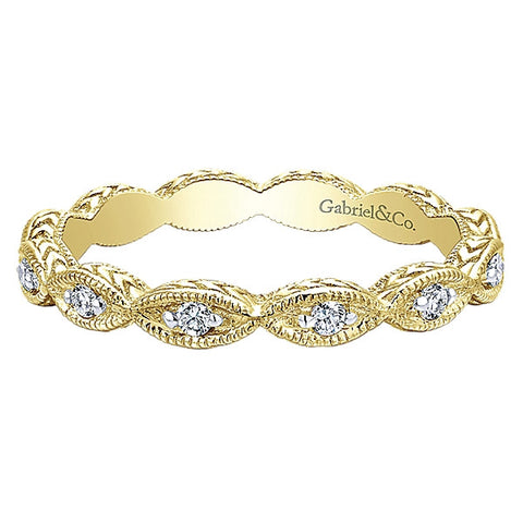 Scalloped Design Stacking Band by  Gabriel & Co.