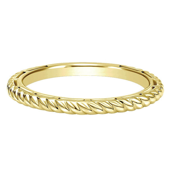Rope Design Stacking Band by Gabriel & Co.