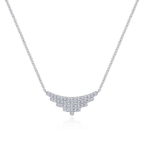Art Deco Inspired Diamond Necklace by Gabriel & Co