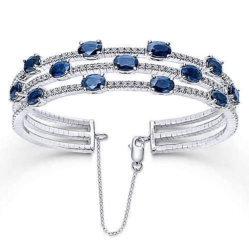 Sapphire Diamond Bangle Bracelet by Gabriel & Co