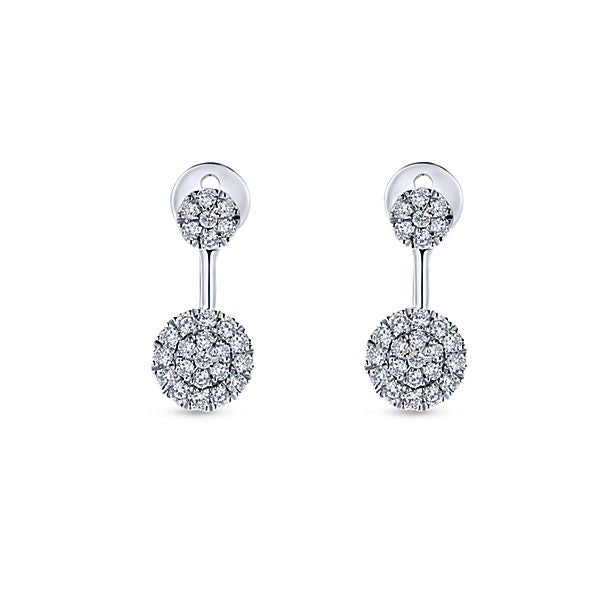"""Peek-a-Boo"" Double Diamond Earrings from Gabriel & Co"