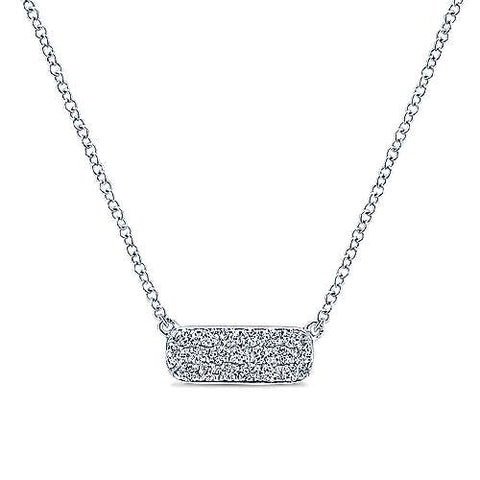 Cushion Rectangular Diamond Bar Necklace by Gabriel New York