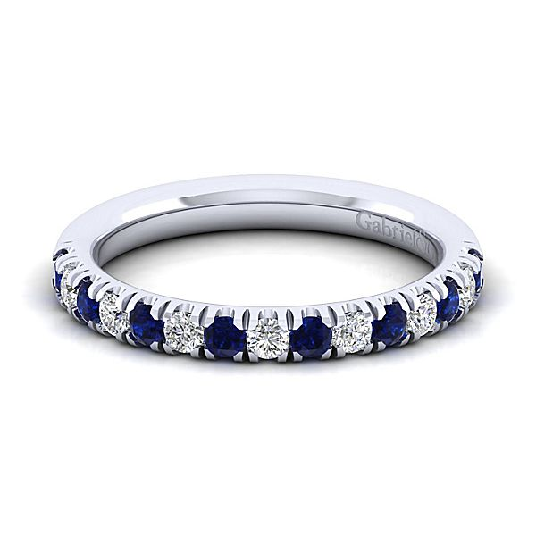 Sapphire and Diamond Stacking Band by Gabriel & Co