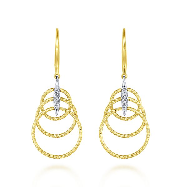 Flirty Dangle Diamond Earrings by Gabriel & Co