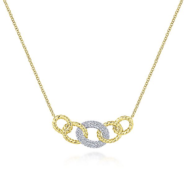 Diamond Link Necklace by Gabriel & Co