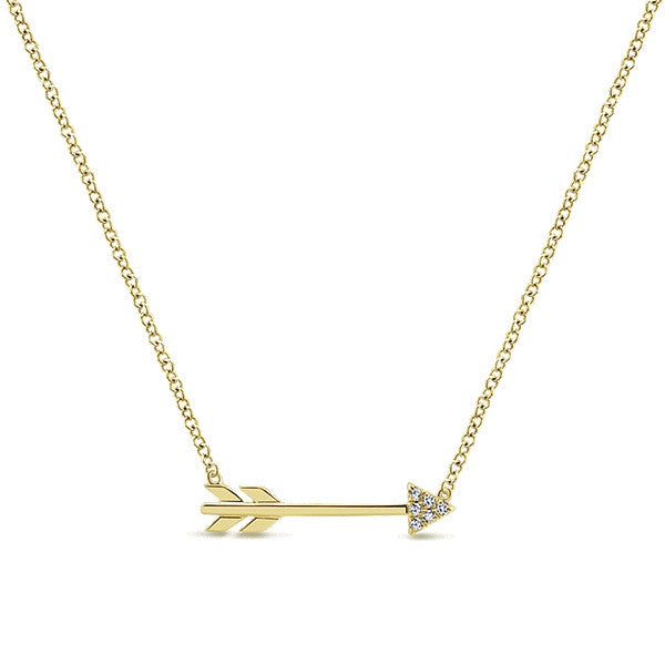 Arrow Diamond Necklace by Gabriel & Co