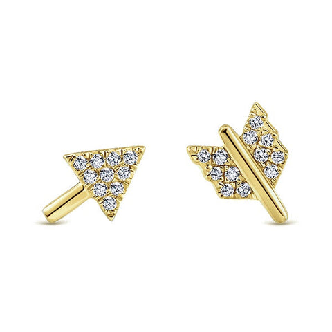 Stylish Arrow Earrings by Gabriel & Co