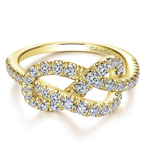 Love Knot Ring by Gabriel & Co