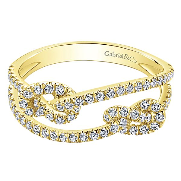 Double Love Knot Ring by Gabriel & Co.
