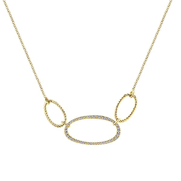 Triple Hoop Diamond Necklace by Gabriel & Co.