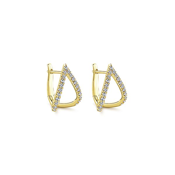 Pointed Diamond Ear Huggers by Gabriel & Co