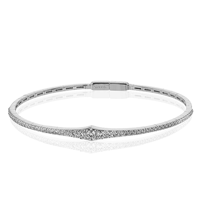 Graduated Diamond Bangle by Simon G