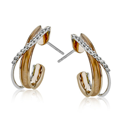 "Fancy Diamond ""J"" Hoops by Simon G"