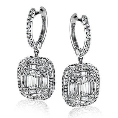 Cushion Shape Statement Diamond Earrings by Simon G