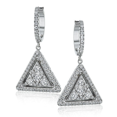 Modern & Sophisticated Diamond Drop Earrings