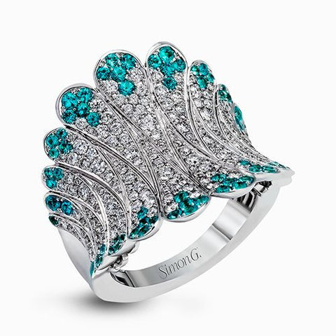 Stunning Paraiba Tourmaline and Diamond Ring by Simon G.