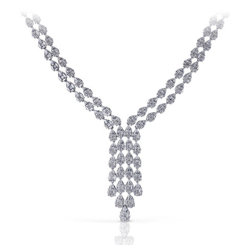 Superb 21.4 Carat Diamond Necklace in 18k White Gold by Simon G.