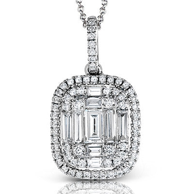 Stunning Cushion Shape Mosaic Diamond Pendant by Simon G