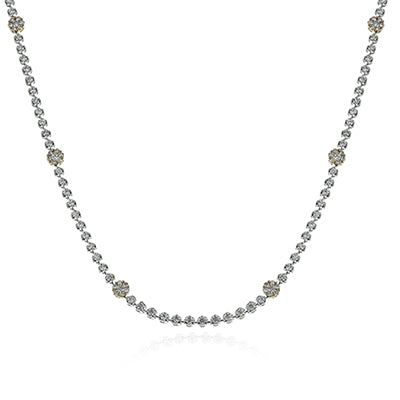 "Glamorous 32"" Diamond Station Necklace by Simon G"