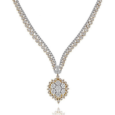 Stunning 18k White and Yellow Gold Diamond Necklace by Simon G