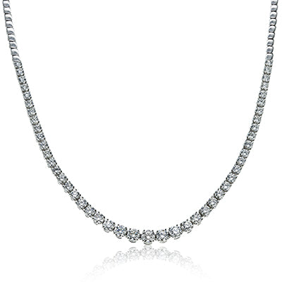Graduated Diamond Riviera Necklace by Eloquence
