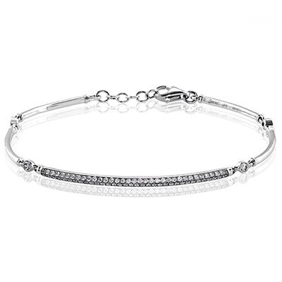 Pave and Bezel Set Diamond Bracelet by Simon G