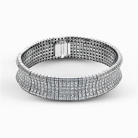 Exceptional Princess Cut Diamond Bracelet, Simon G.