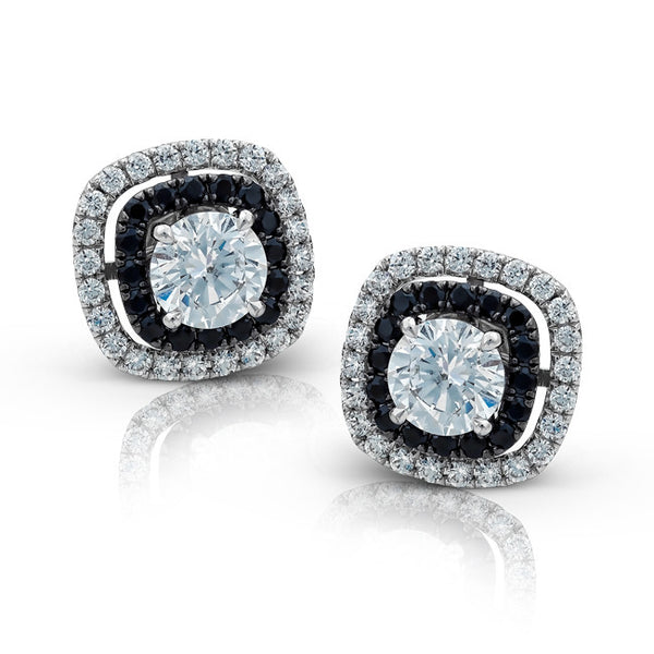 Double Pave Diamond Halo Earring Jackets by Simon G.