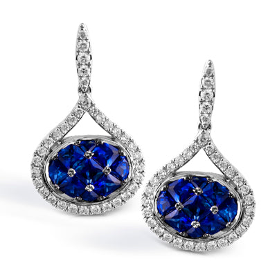 Sapphire Diamond Dangle Earrings by Simon G