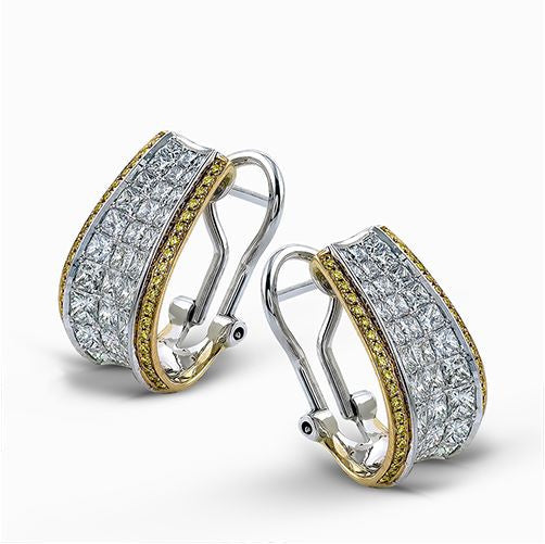 """Simon-Set"" Princess Cut Diamond Earrings by Simon G."
