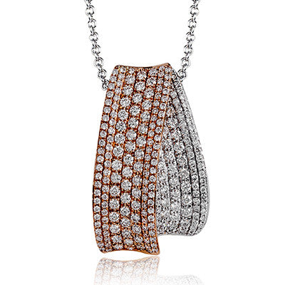 "Lovely ""Layering"" Diamond Necklace by Simon G"
