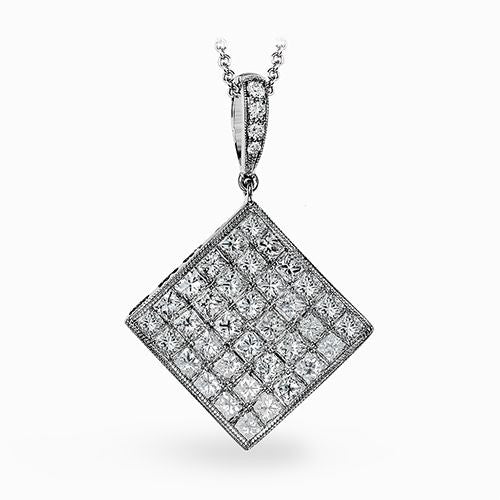 "Beautiful ""Simon-Set"" Diamond Pendant by Simon G."