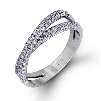 Double Pave Diamond Band from Simon G