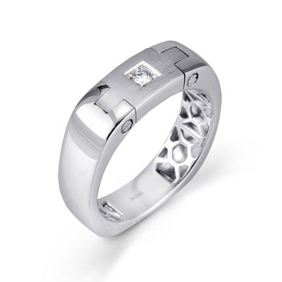 """Hinge"" Design Men's Wedding Band by       Simon G."