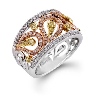 Lovely Paisley Band with Fancy Canary Diamonds from Simon G.