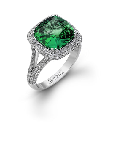 Luscious Green Tourmaline and Diamond Ring by Simon G.