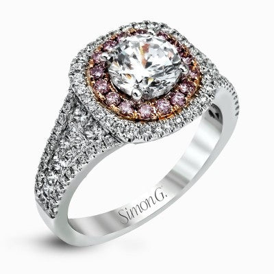 Fancy Pink and White Diamond Ring by Simon G