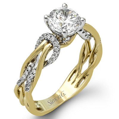 "18k ""Love Knot"" Engagement Ring by Simon G"