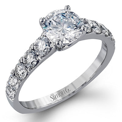 Dazzling Tapered Diamond Engagement Ring by Simon G