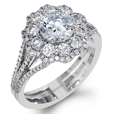 Luscious Diamond Pave Engagement Ring from Simon G.