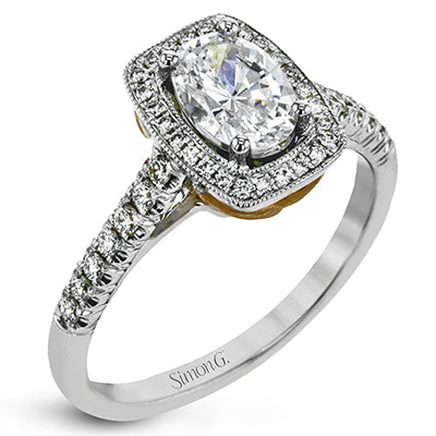 Oval Cushion Diamond Engagement Ring by Simon G