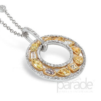 Fantastic Multi-Shape Fancy Colored Diamond Pendant by Parade