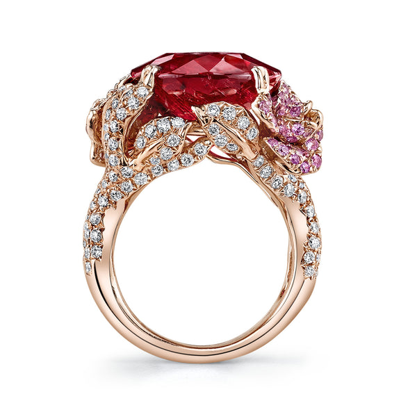 Pink Tourmaline and 18k Rose Gold Ring by Parade Designs